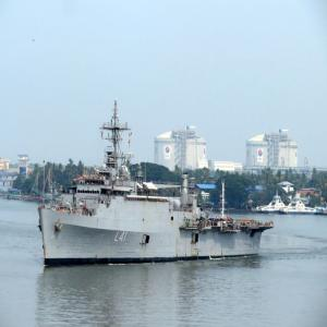 The first group of 698 persons evacuated from Maldives arrived at Cochin Port on 10.05.2020 at 9.30 AM by the ship 'INS Jalaswa' of Indian Navy.